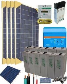 Kit Solar Fotovoltaico 3000W 24V 6100Whdia