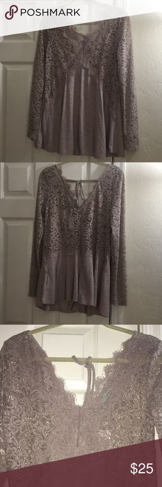 Long sleeve lace top! Maurices Brand new with tags. Long lace sleeves Medium but fits like a large I think. Comes from a smoke free and pet free home. Maurices Tops Blouses