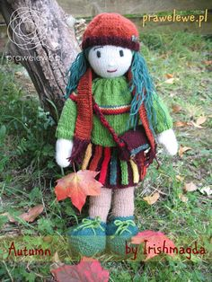 Autumn Doll by Irishmagda- pattern for a hand knitted doll {www.prawelewe.pl} ☆