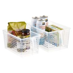 Clear Handled Storage Baskets | $3.99 - $4.99