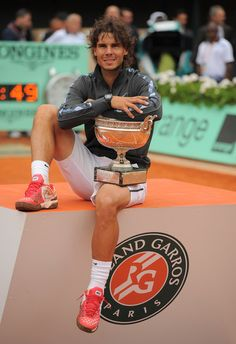 Tennis star Rafael Nadal defeated Novak Djokovic to win the 2012 French Open in Paris, France on June 10, 2012. After winning the tournament...