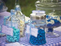 Blue graduation party theme