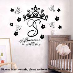 Custom Monogram Name Initials Nursery wall Stickers
