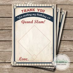 New York Yankees Baseball Thank You Card by DigiCards on Etsy ...