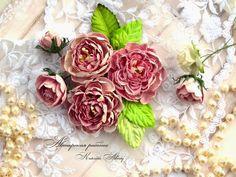 Мастер-класс. Цветы из бумаги для скрапбукинга. | 10 фотографий