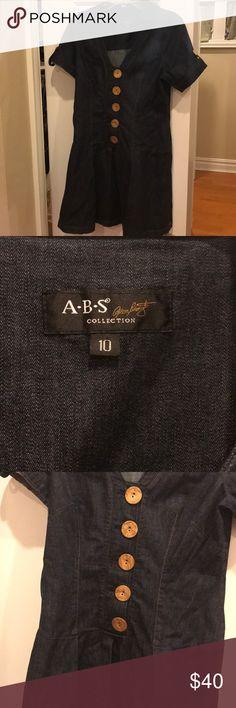 Beautiful ABS denim dress😍 Rarely worn denim ABS dress ABS Dresses