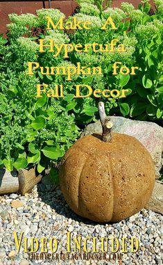 How to Make Hypertufa Pumpkins - It's Easy
