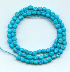 Sleeping Beauty Turquoise Beads 18 Inch Strand Gemstone Nuggets