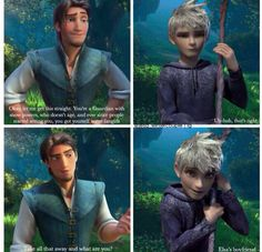 I ship Jelsa only because Flynnunzel is canon and because Jack and Elsa's powers overlap and complement each other