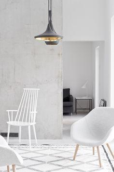 Interior, white, concrete, wall, floor