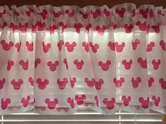 Minnie Mouse Ears Pink and White Window by CheriesSewCrafty