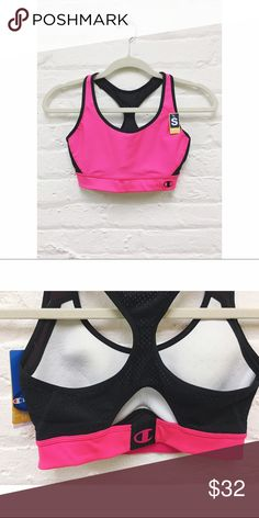 🎉FLASH SALE🎉 >> The Great Divide Sports Bra is the perfect workout bra! Say goodbye to the uni-boob and hello to comfortable support!  d e t a i l s + molded compression cup lightly padded for shape & modesty + contoured under-best for support + ventilated racer back + double dry moisture management + non-stretch, stay put straps w/ mesh panel + great for high impact   m a t e r i a l + 88% polyester | 12% spandex  >> FLASH SALE <<  •• b u n d l e 2 or more items and SAVE 15% •• Champion…