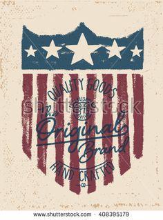 vintage American labels. tee print