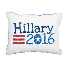 Hillary Clinton 2016 Swag - rectangular canvas pillow