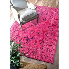 WOOL Shop nuLOOM Pink Hand Tufted Kimberly Overdyed Style Area Rug at Lowe's Canada. Find our selection of area rugs at the lowest price guaranteed with price match + off. Traditional Rugs, Traditional Design, Hand Tufted Rugs, Rugs Usa, Accent Rugs, Wool Area Rugs, Wool Rugs, Home Decor Outlet, Home Interior