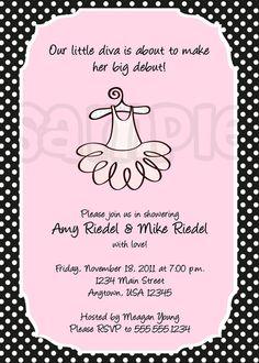 Big Debut Baby Shower Invitation by PoshPartyPrints on Etsy, $1.00