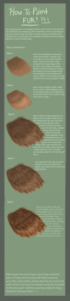 Fur Tutorial: Pt 1- Short Fur by Kuvari