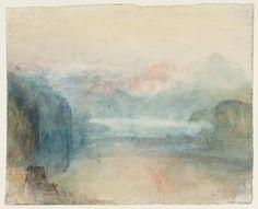 """punlovsin: """"Joseph Mallord William Turner, Lake Lucerne from near Meggen. """""""