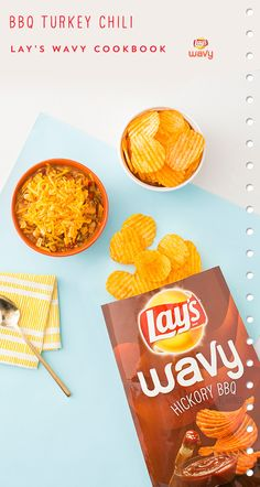 Use LAY'S® Wavy Hickory BBQ Potato Chips to whip up BBQ Turkey Chili. Click pin to view the whole recipe.