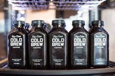 Crack open a bottle of our cold brew! It's just as good as our cold brew on tap - except portable. Best Iced Coffee, Cold Brew Iced Coffee, Coffee Drinks, Coffee 21, Coffee Enema, Drip Coffee, Coffee Label, Coffee Packaging, Coffee Branding