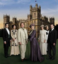 #The_cast_of #Downton_Abbey in #Edwardian_Period_Costumes