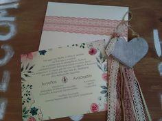 Πρόταση για #προσκλητήριο & #μπομπονιέρα γάμου! #vintage #floral