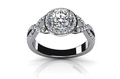 $2,799  -  1.42 CARATS TWISTED SPLIT SHANK ROUND CUT DIAMOND HALO ENGAGEMENT RING ON 18K SOLID WHITE GOLD F 26 D http://www.amazon.com/dp/B00OTZP3V8/ref=cm_sw_r_pi_dp_R0Nyub1GACEAW