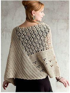 ergahandmade: Crochet Poncho + Diagrams + Free Pattern