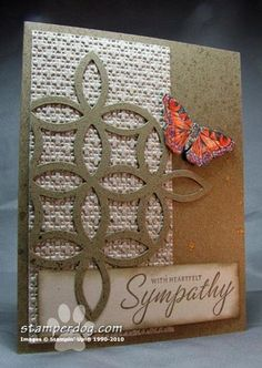 Love the use of lattice on a sympathy card - going to have to try that!