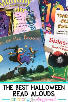 The Best Halloween Read Alouds. These books are perfect to read to the class or at home during the month of October. Halloween Stories, Halloween Books, Halloween Kids, Halloween Pumpkins, Kindergarten Lesson Plans, Kindergarten Lessons, Homeschool Kindergarten, Library Skills, Library Lessons