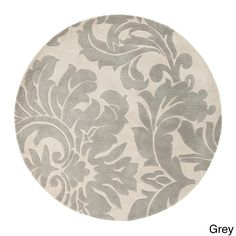 Hand-tufted Paisley Floral Round Wool Area Rug (8' x 8')