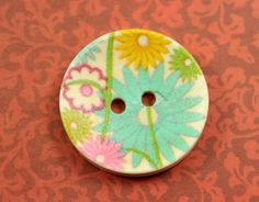 Flower Wooden Buttons  Spring Theme Color Luxuriant by Lyanwood, $3.50