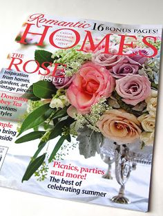 A must have issue: June 2013 Romantic Homes magazine: Two lovely TEA articles, one with Downton Abbey!