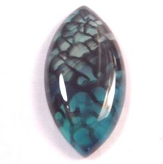 36.03Ct 39x20x6mm Blue Dragon Vein Agate Marquise Cabochon for Wire Wrapping #Unbranded