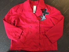 Items similar to Adorable Little Red Stenciled Girls Jacket on Etsy Little Red, Stencils, My Etsy Shop, Trending Outfits, Leather Jacket, Girls, Clothing, Jackets, Shopping