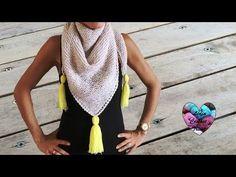 Châle très tendance tricot facile / Chal tejido en dos agujas moderno facil - YouTube