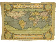 vintage map with latin script. amazing.