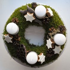 NATURKINDER: Moss Wreath with natural materials and biscuits