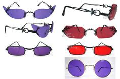 Gothic VAMPIRE Glasses Sunglasses DRACULA GOTH Red Purple