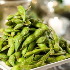 Edamame is a trendy appetizer your party guests will go for. The addition of Chinese Five Spice adds extra interest.