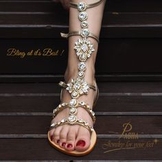 The icon for the season is our ORONSAY gladiator in gold with our precious rhinestones in pure white glitters to make them the Bling at it's best for our Spring Summer 2016 collection at Pasha Sandals. #ORONSAY #Gladiator #Gold #Silver #SpringSummer2016 #SS2016 #Pasha #Sandals #PASHASandals #Rhinestone