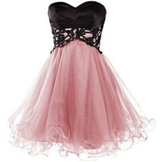 Ababalaya Short Prom Tulle Dresses Tutu Homecoming Dress for Women (€36) ❤ liked on Polyvore featuring dresses, red prom dresses, short cocktail prom dresses, red dress, prom dresses and short homecoming dresses