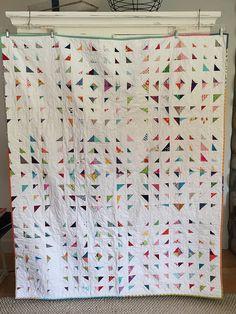 "Scrappy happy   60""x 70"" Stitch & flip with the triangles ma…   Flickr"