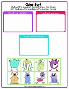 Not-So-Scary Monsters Preschool Pack from LittleMonkeyPrintables on TeachersNotebook.com (28 pages)