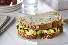 Egg Salad Florentine Sandwiches - The Kids Cook Monday Cooking With Kids, Cooking Tips, Steamed Spinach, Italian Chef, Egg Sandwiches, Egg Salad, Vegetarian Cheese, Romania