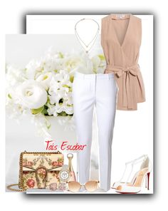 """""""White time..."""" by tais-escobar ❤ liked on Polyvore featuring Alberto Biani, Christian Louboutin, Gucci, Michael Kors, Christian Dior, Chanel and Linda Farrow"""
