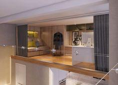 4个超大落地窗的时尚Loft设计