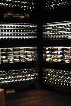 wine room display, vertical and horizontal