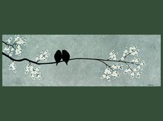 love birds in tree - perfect for our 'new home' cards?