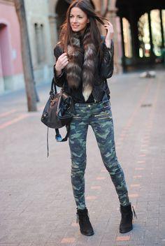 FASHIONVIBE: Camouflage Legs & Balenciaga